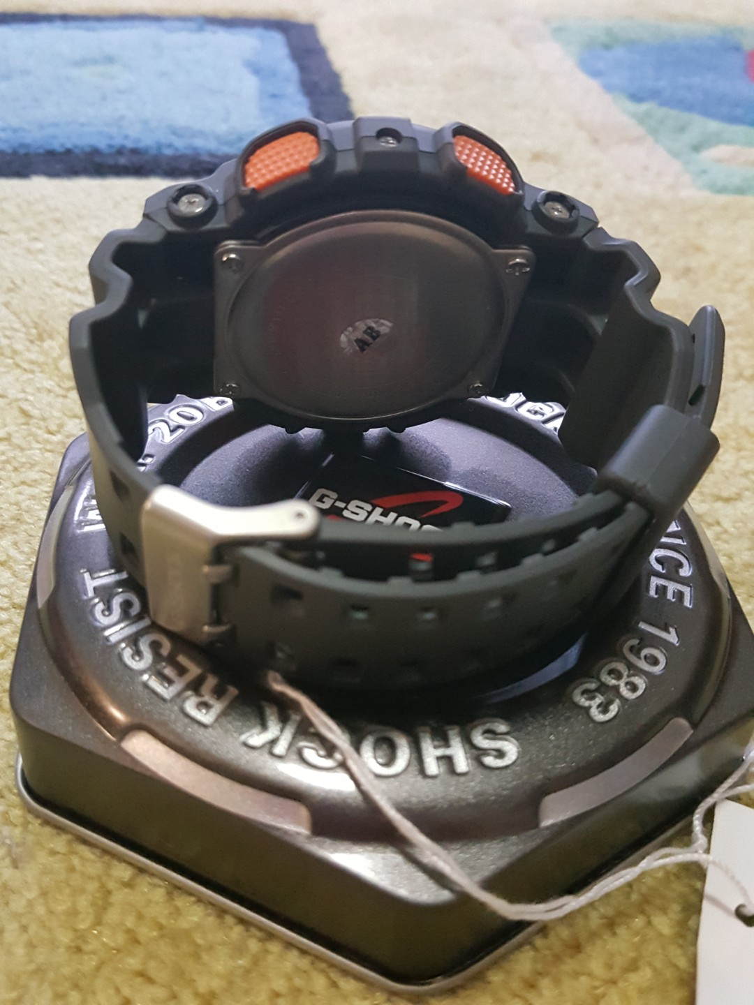 New Casio G Shock Ga 11ts 1a4drfree Postage Mens Fashion 110ts 1a4dr Black And Orange Dial With Led Light Share This Listing