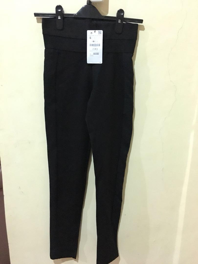 Celana Legging Zara Fesyen Wanita Pakaian Wanita Di Carousell