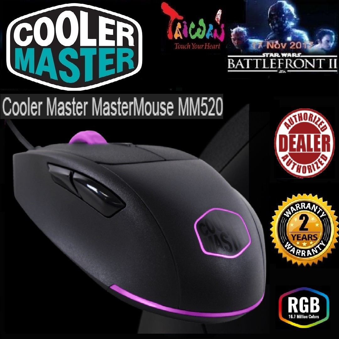 427f8963247 CoolerMaster MASTERMOUSE MM520 ERGONAMIC RIGHT HANDED GAMING MOUSE WITH  THREE ZONE RGB,, Electronics, Computer Parts & Accessories on Carousell