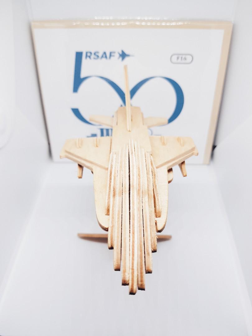 F-16 Fighter Plane 3D PUZZLE WOODCRAFT CONSTRUCTION KIT