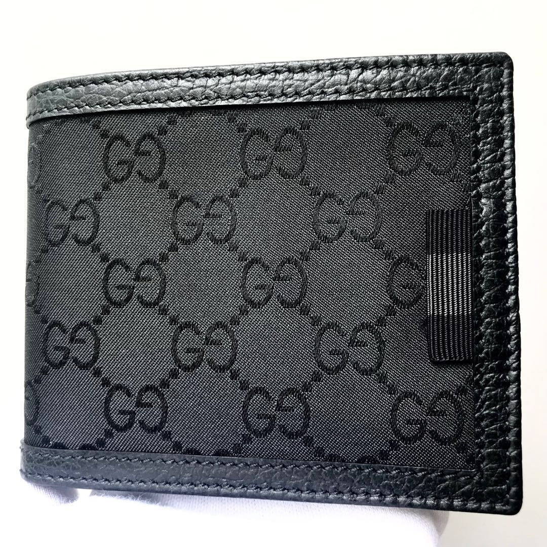 55c81005c214e6 GUCCI Men's Bifold All Cards Wallet 100% AUTHENTIC+BRAND NEW ...