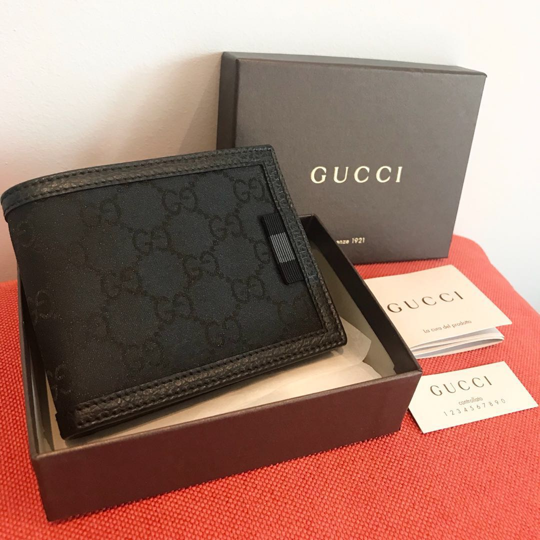 bb8b600e1b1d GUCCI Men's Bifold All Cards Wallet 100% AUTHENTIC+BRAND NEW ...