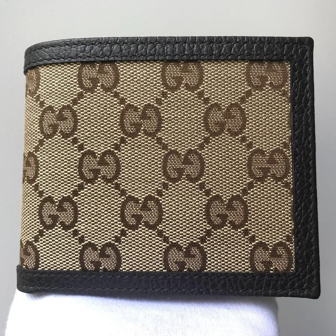 93f381adcab GUCCI Men s Bifold All Cards Wallet 100% AUTHENTIC+BRAND NEW ...