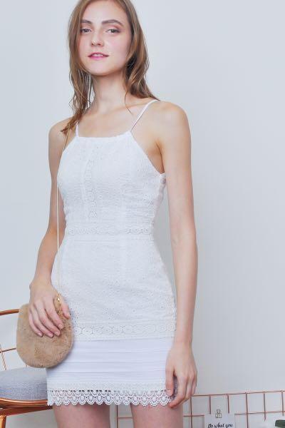 d6222bb94a2 Karlee Eyelet Dress (Ivory), Women's Fashion, Clothes, Dresses ...