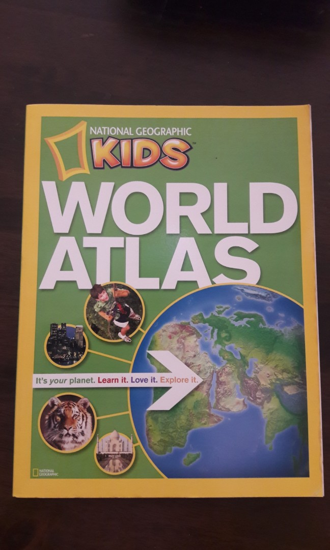 World Map National Geographic Kids World Atlas