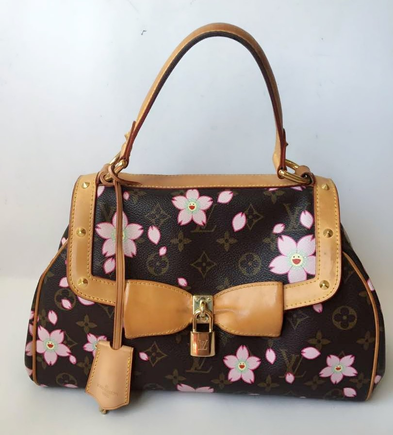db7349a20dbb LIMITED EDITION LOUIS VUITTON Murakami Cherry Blossom Sac Retro Bag ...