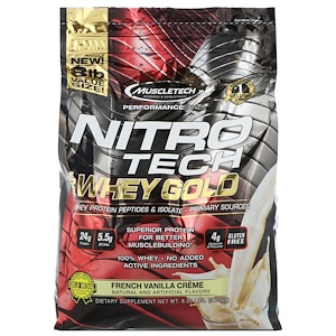 Muscletech Performance Series Nitro Tech 100 Whey Gold French Nitrotech 4 Lbs Vanilla Creme 8 363 Kg Sports Weights Gym Equipment On Carousell