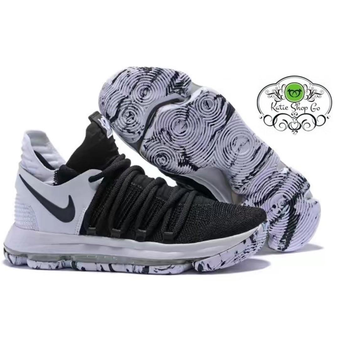 f5e5d5a517c1 Nike KD 10 BASKETBALL SHOES - KD 10 Black White