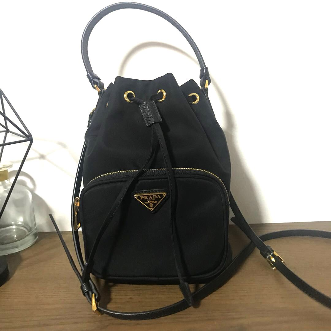 Prada Tessuto Mini Bucket Crossbody Bag da980d766df88