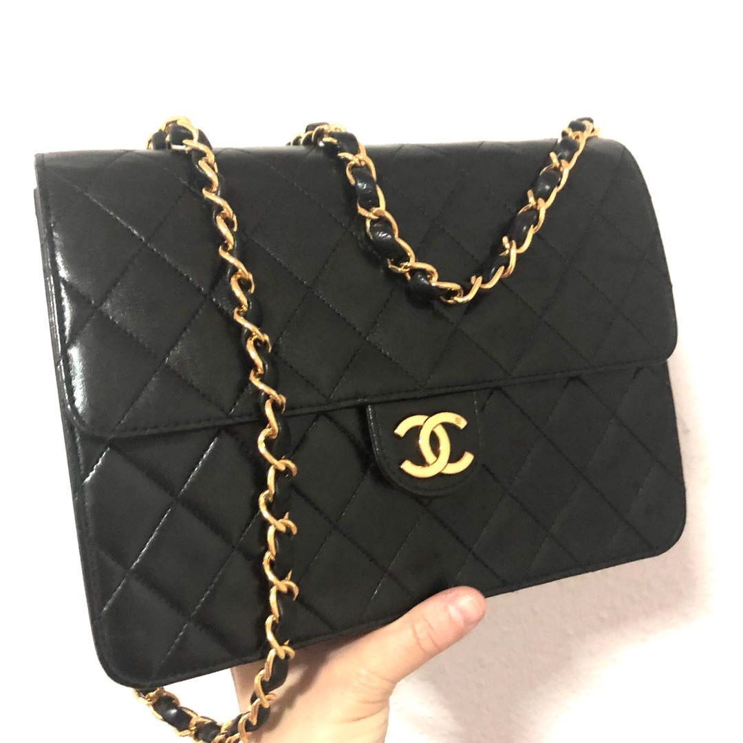 93f7351b914e RESERVED Authentic Chanel Classic Vintage Flap Bag with 24k Gold ...