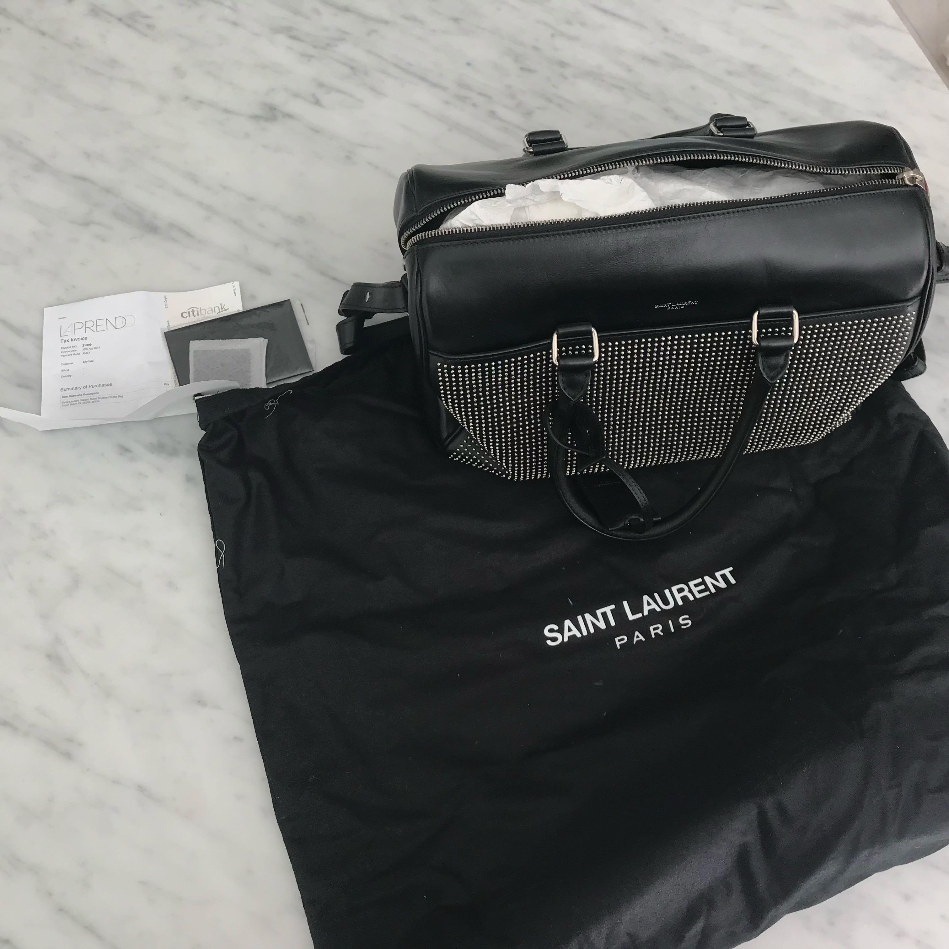 91ffe707e8 Saint Laurent Bag (black w studs)
