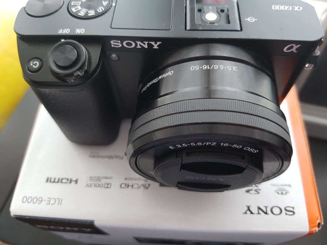 Sony A6000 Plus 16 50mm F35 56 Kit Lens Photography Cameras 50 Alpha 6000 Photo