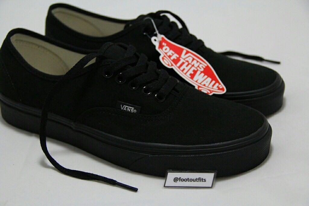 vans authentic full black original