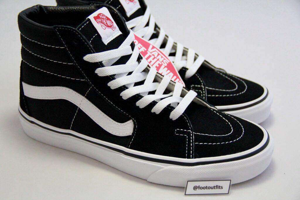 Vans Sk8-Hi Classic Black/White BW (Original 100%)