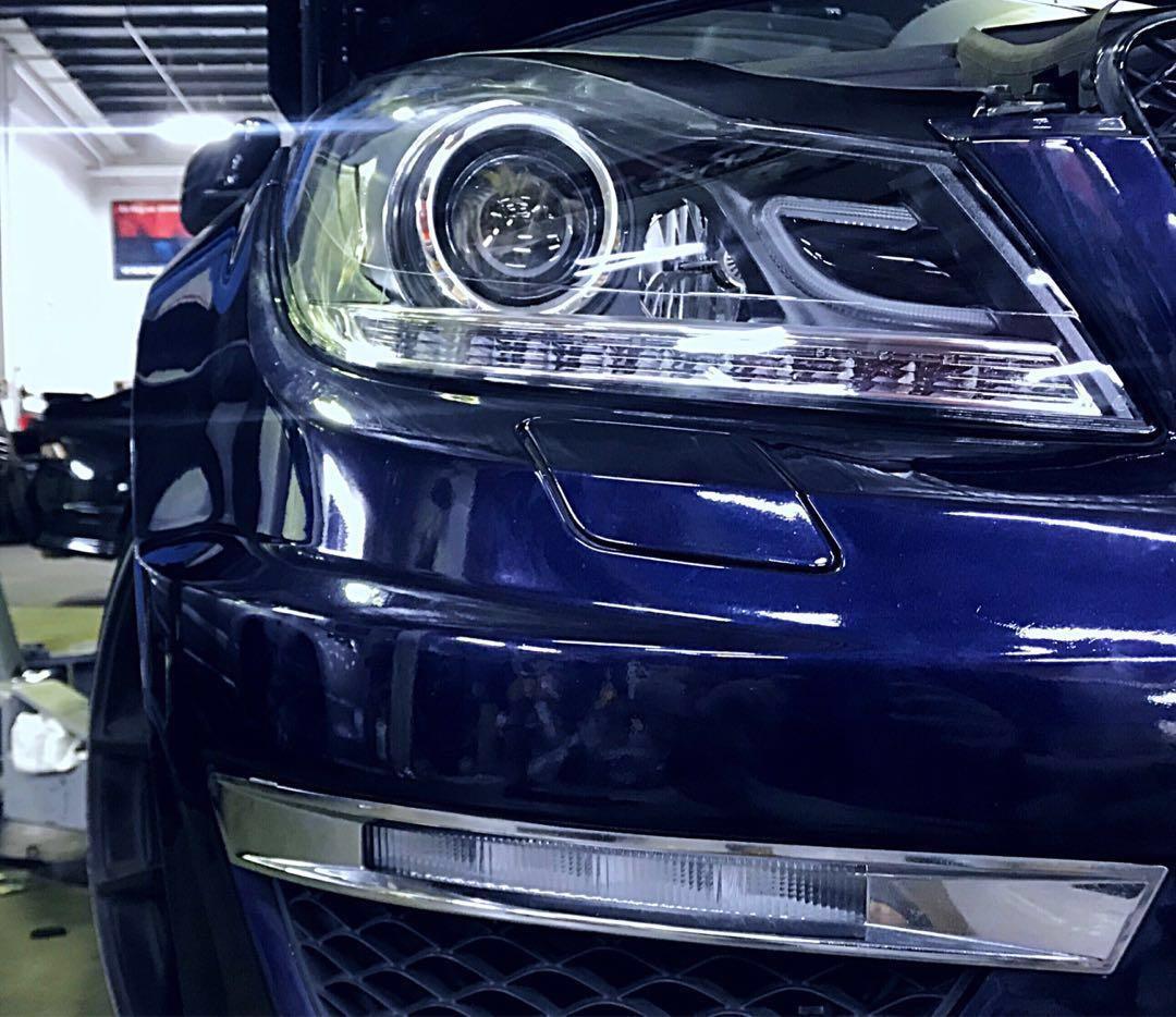 W204 AMG C63 Headlights