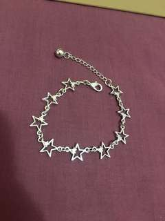 Star shaped Bracelet with bell