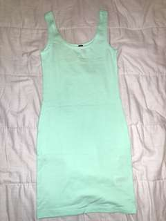 H&M turquoise body con size 32