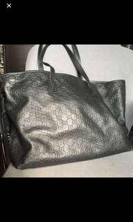 Gucci 直皮壓紋GG Tote bag