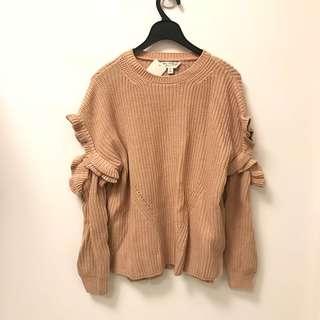 Miss Selfridges ruffle knit top sweater jumper