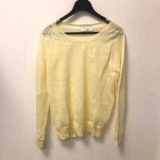 Sandro yellow top lace