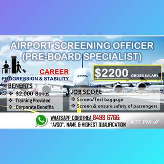 AIRPORT SCREENING - PRE-BOARDING AREA