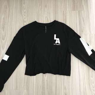 Oversized Long Sleeve Crop Top