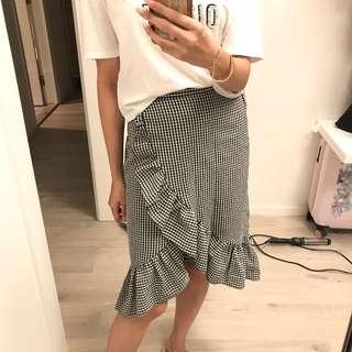 Miss Selfridges check skirt