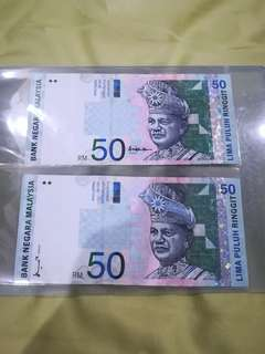 MALAYSIA RM50 8th & 10th Series