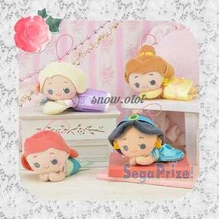 日版迪士尼公主公仔掛飾☆Dreamy! Disney/Princess/Ariel/Belle/Jasmine/Rapunzel/長髮公主/樂佩/人魚公主/貝兒/茉莉公主/美人魚/迪士尼/plush/soft toy/kids doll
