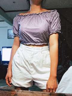 [SOLD] Gingham Offshy Croptop