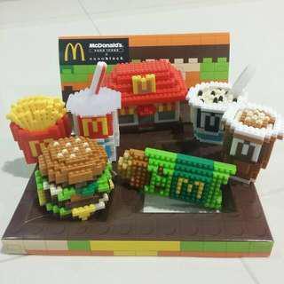 Mcdonald's Nanoblock Food Icons Super RARE Collector Item!!