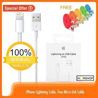 Kabel data iPhone original 100% apple lightning cable