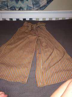 Wide stripy trousers