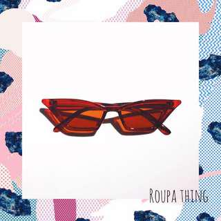 READYSTOCK RED FOXIE SUNGLASSES