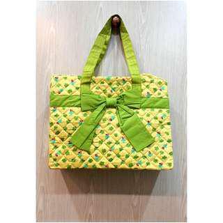 NaRaYa 曼谷旅行包黃色格子包