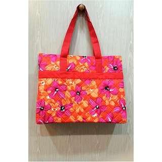 NaRaYa曼谷旅行包橘色花紋方格包