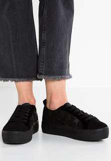River Island Black Star embossed sneakers