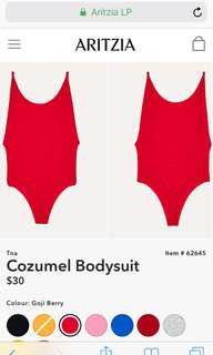 Red TNA Cozumel Bodysuit