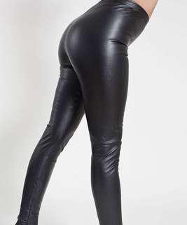 "American apparel ""leather"" leggings"