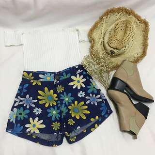 Daisy Cutesy High Waisted Denim Shorts