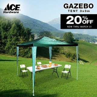(3) Green Canopy Tents from Ace