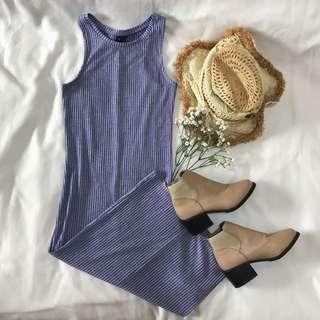 Powder Blue Bodycon Maxi Dress