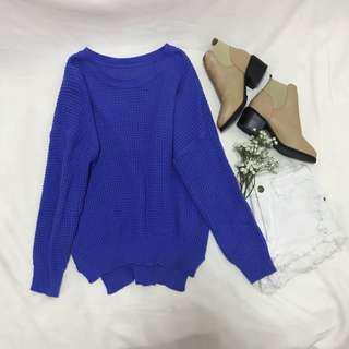 Cobalt Blue Sweater Pullover