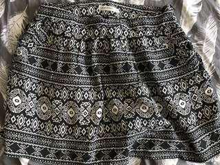 Paper Scissors Aztec print skirt