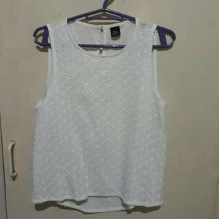 Bayo white sleeveless