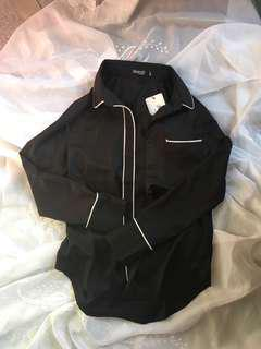 Black office blouse