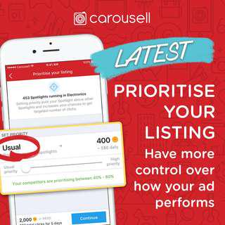Prioritise your listing!