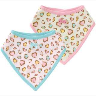 🚚 女寶寶口水巾(2件ㄧ組)-斑紋款