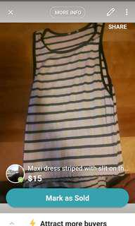Striped maxi dress with slits on the sides
