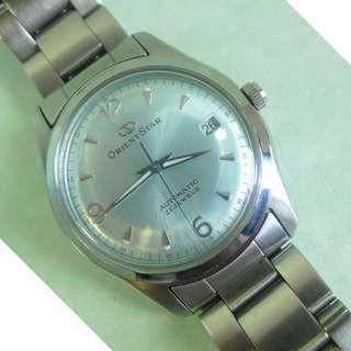 Mint ! Gent's Orient Star Automatic 21-Jewels watch with sky-blue dial , rare !